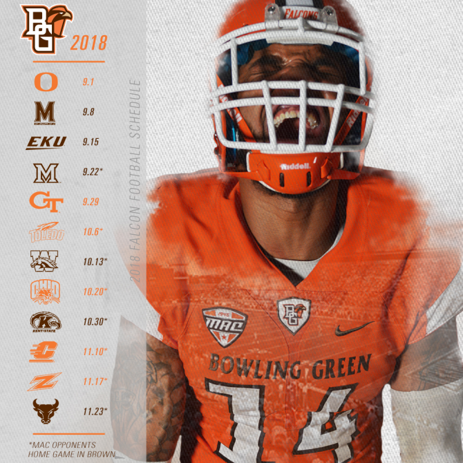 Bowling Green Football Schedule 2019 GoBGOhio